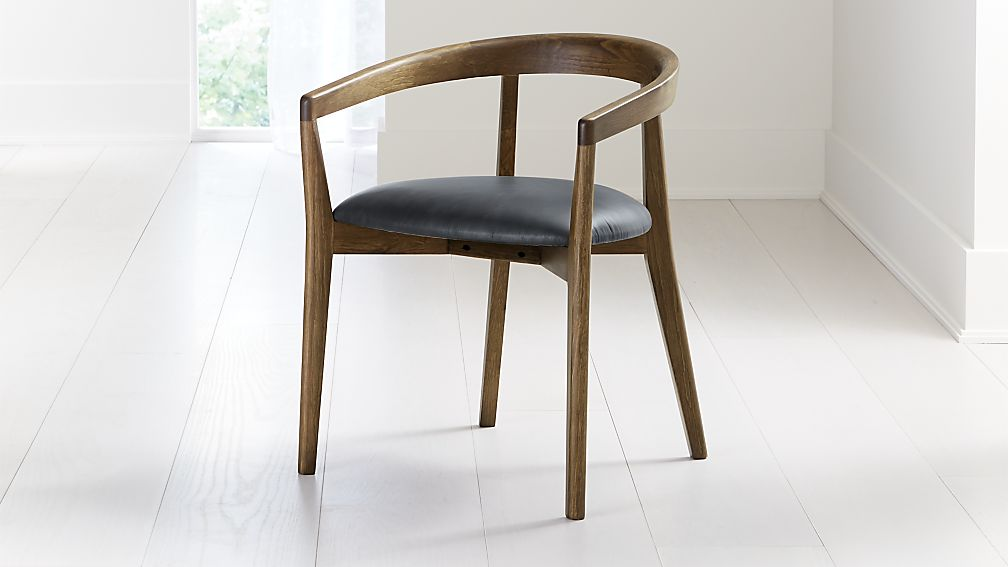 Cullen Shiitake Oceana Round Back Dining Chair - Image 1 of 6