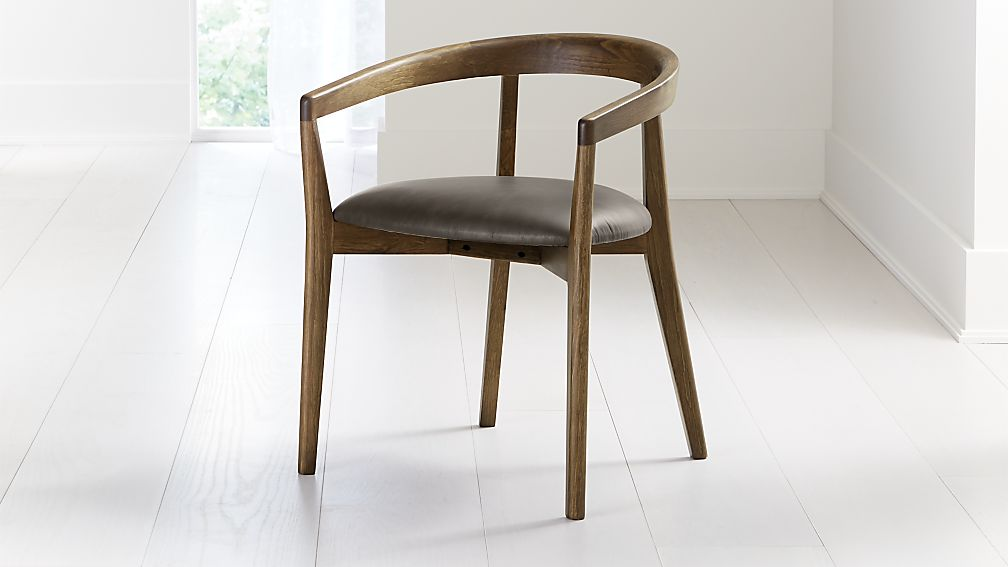 Cullen Shiitake Saddle Round Back Dining Chair - Image 1 of 6