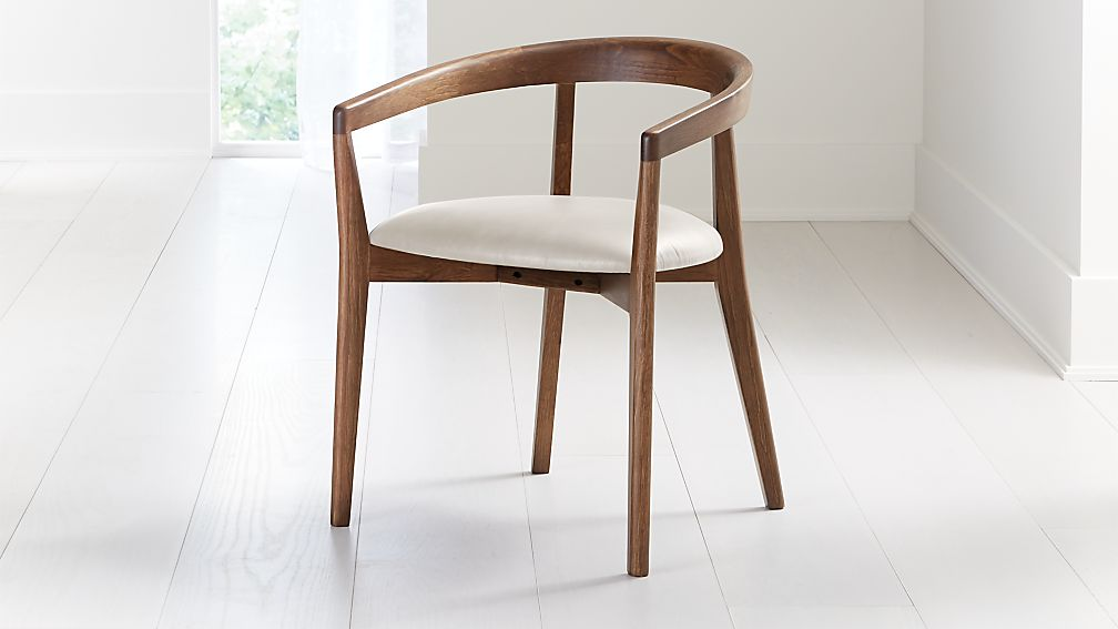 Cullen Shiitake Sand Round Back Dining Chair - Image 1 of 6