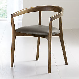 Cullen Shiitake Stone Round Back Dining Chair