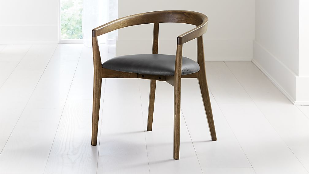 Cullen Shiitake Viola Black Round Back Dining Chair - Image 1 of 6