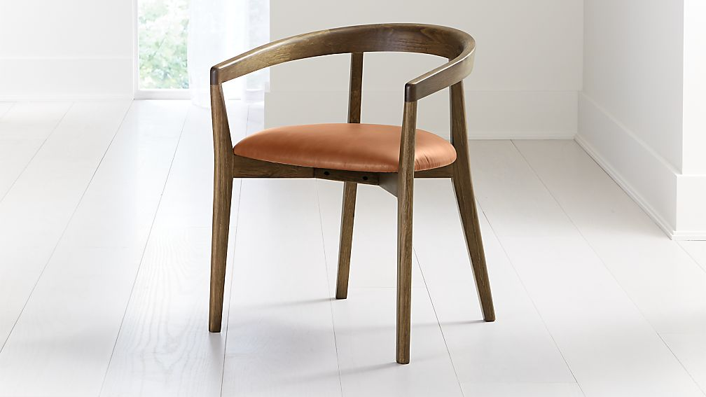 Cullen Shiitake Whiskey Round Back Dining Chair - Image 1 of 6