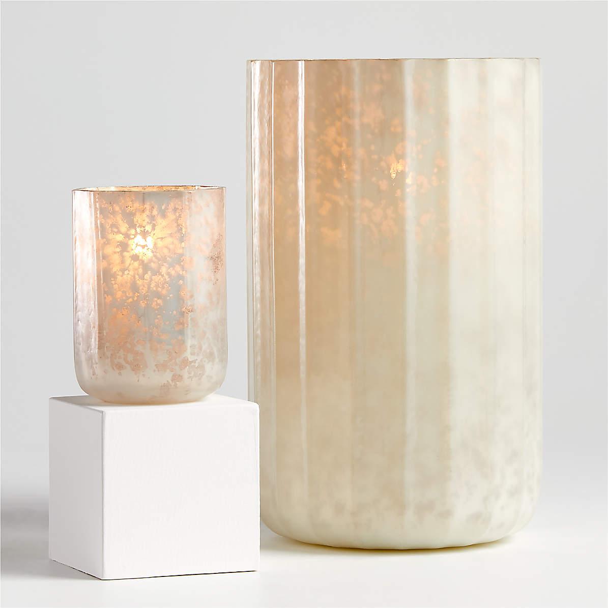 Cumulus White Mercury Glass Candle Holders Crate And Barrel Canada
