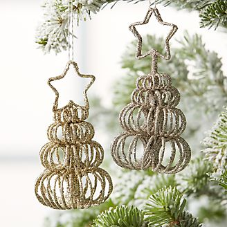 curl tree place card holderornaments - Snowflake Christmas Decorations