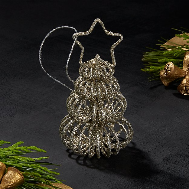 Silver Curl Tree Placecard Holder/Ornament