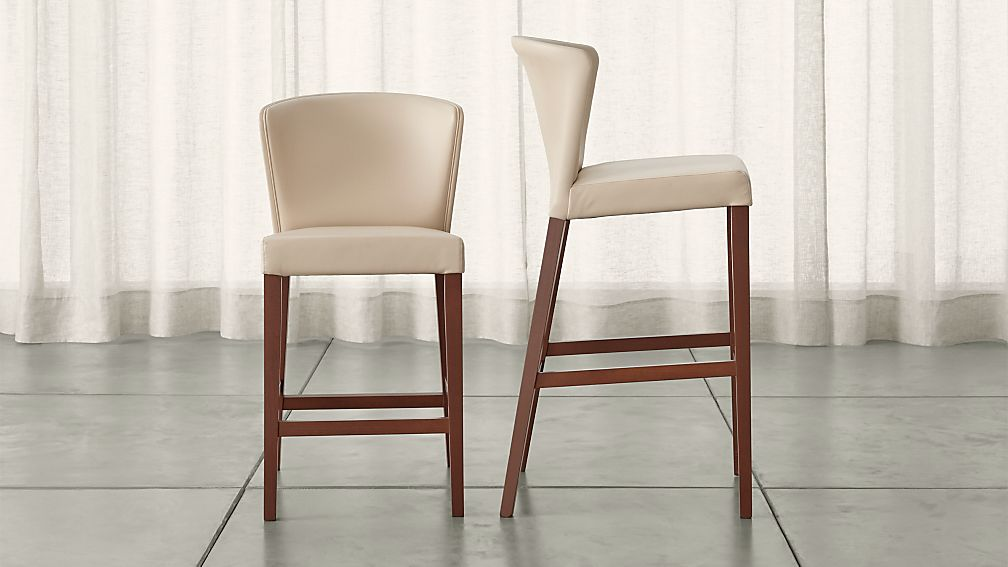 Curran Crema Bar Stools Crate And Barrel