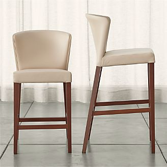 Bar Stools Wooden Metal Leather And Upholstered Crate And Barrel