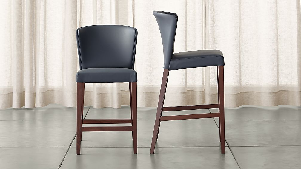 Curran Grey Bar Stools Crate And Barrel
