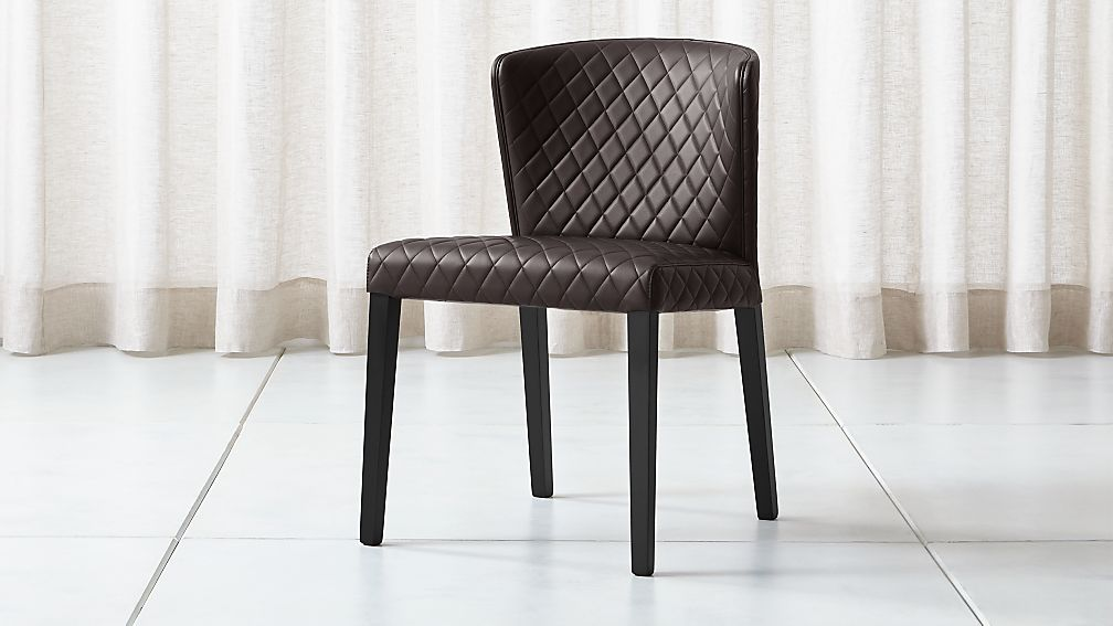 Curran Quilted Chocolate Dining Chair - Image 1 of 5