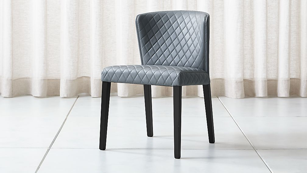Curran Quilted Granite Dining Chair - Image 1 of 6