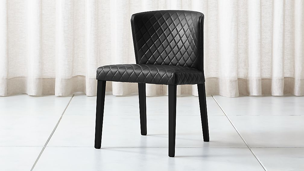 Curran Quilted Onyx Dining Chair - Image 1 of 5