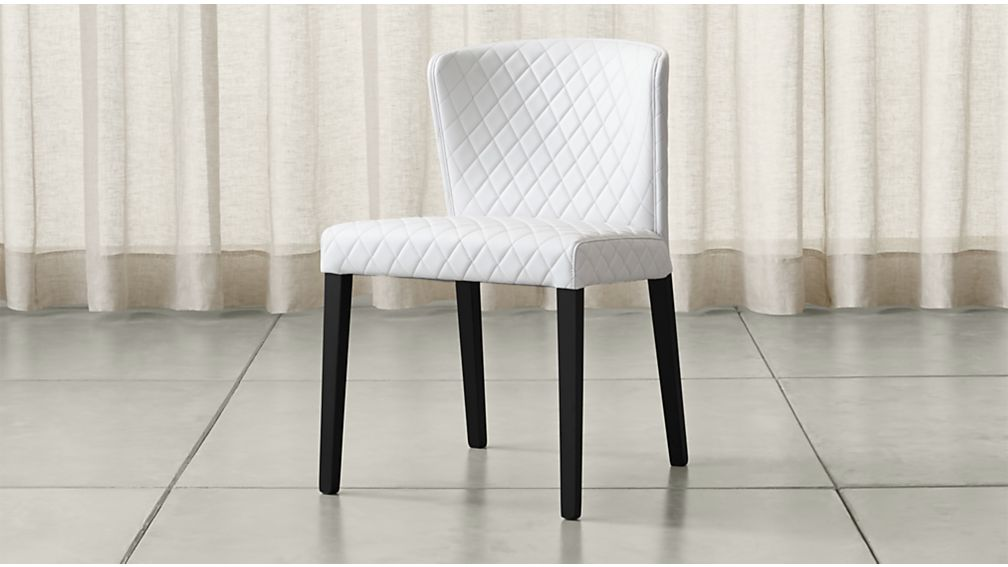 Curran Quilted Oyster Dining Chair Reviews Crate And Barrel