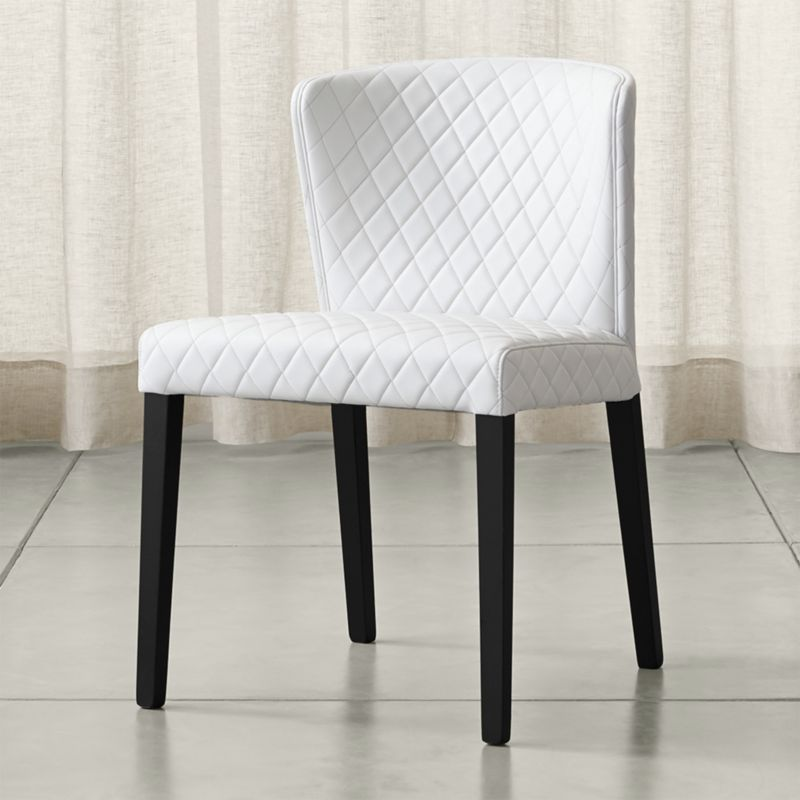 Curran Quilted Oyster Dining Chair Reviews Crate And