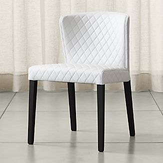 Good Curran Quilted Oyster Dining Chair