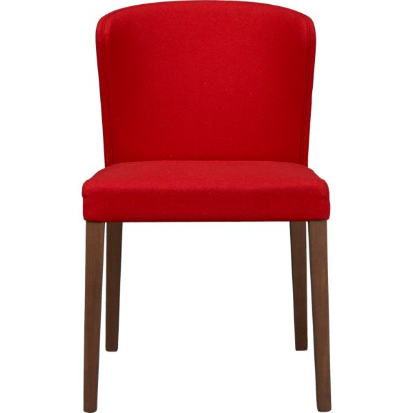 Curran Red Wool Blend Side Chair