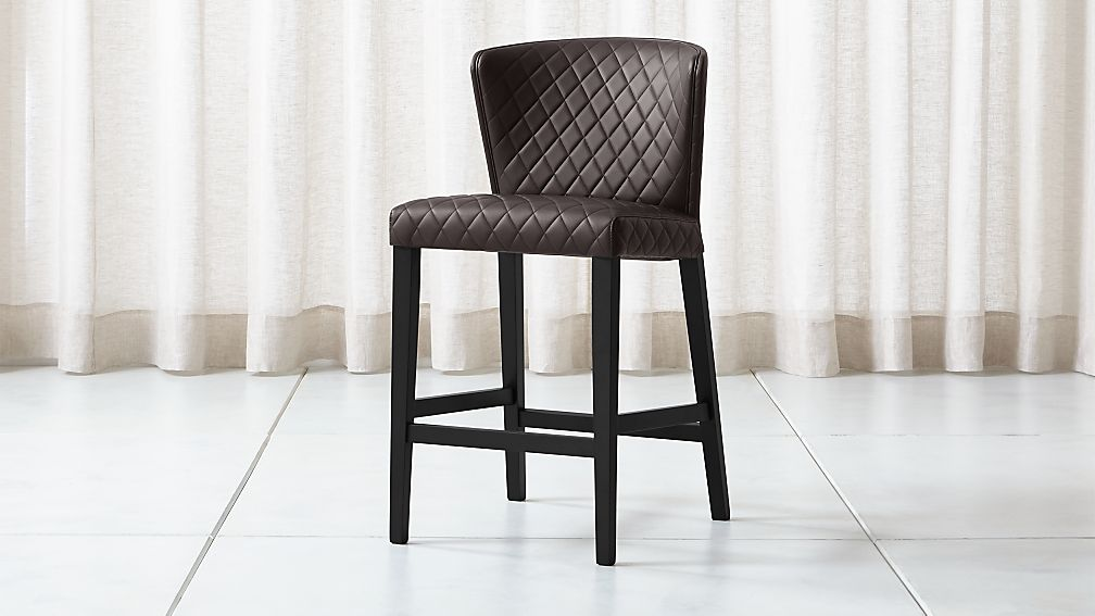 Curran Quilted Chocolate Counter Stool - Image 1 of 5