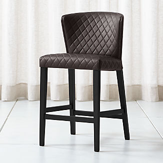 Curran Quilted Chocolate Counter Stool