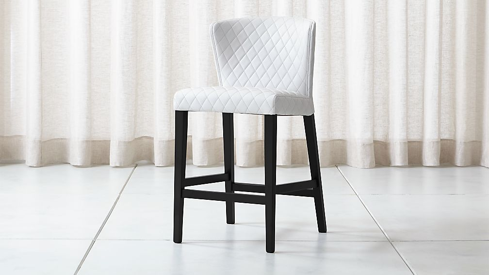 Curran Quilted Oyster Counter Stool - Image 1 of 5