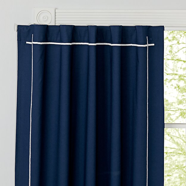 curtain navy blue thick polyester dark insulated blackout curtains kids tag thermal