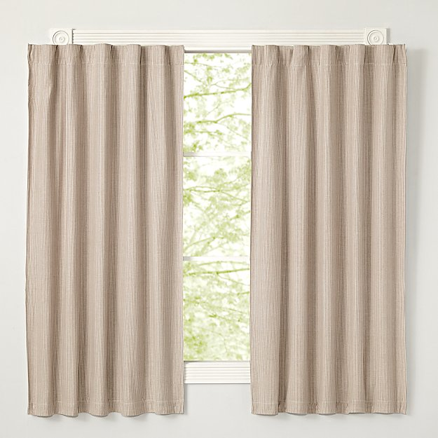 Grey Striped 84 Blackout Curtain Crate And Barrel