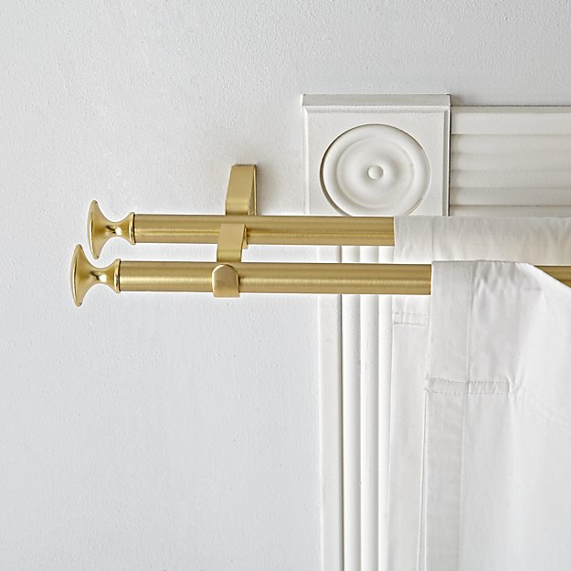 Double Gold Curtain Rod