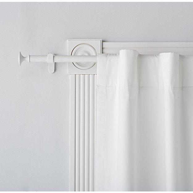Single White Curtain Rod