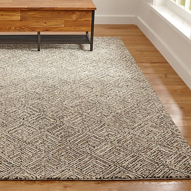 Crate and Barrel Exclusive. Curtis Flint Grey Geometric Rug