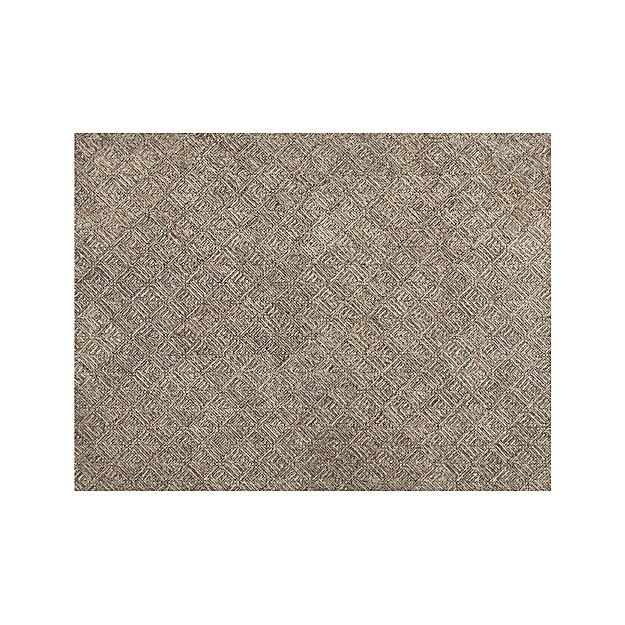 Curtis Flint Grey Wool-Blend 9'x12' Rug