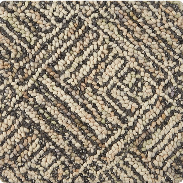 "Curtis Flint Grey Wool-Blend 12"" sq. Rug Swatch"