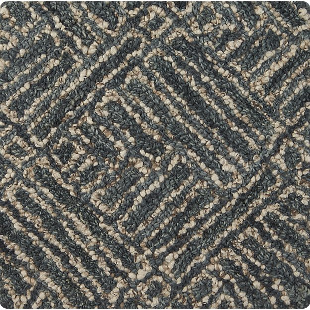 "Curtis Indigo Blue Wool-Blend 12"" sq. Rug Swatch"