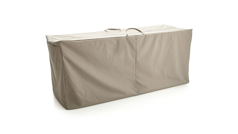 Outdoor bench chaise cushion storage bag crate and barrel for Chaise bench storage