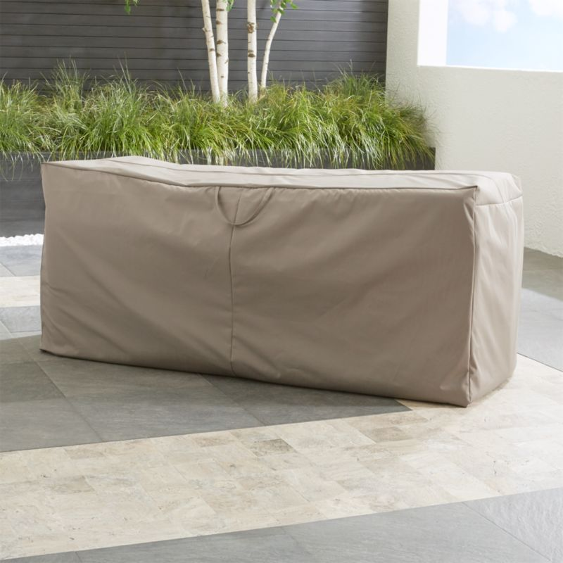 Outdoor BenchChaise Cushion Storage Bag Reviews Crate and Barrel
