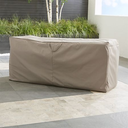 Astounding Outdoor Bench Chaise Cushion Storage Bag Crate And Barrel Ncnpc Chair Design For Home Ncnpcorg