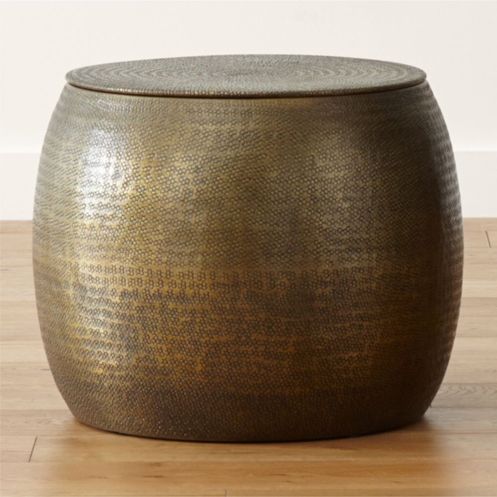 Cymbal Storage Drum Table - Crate and Barrel