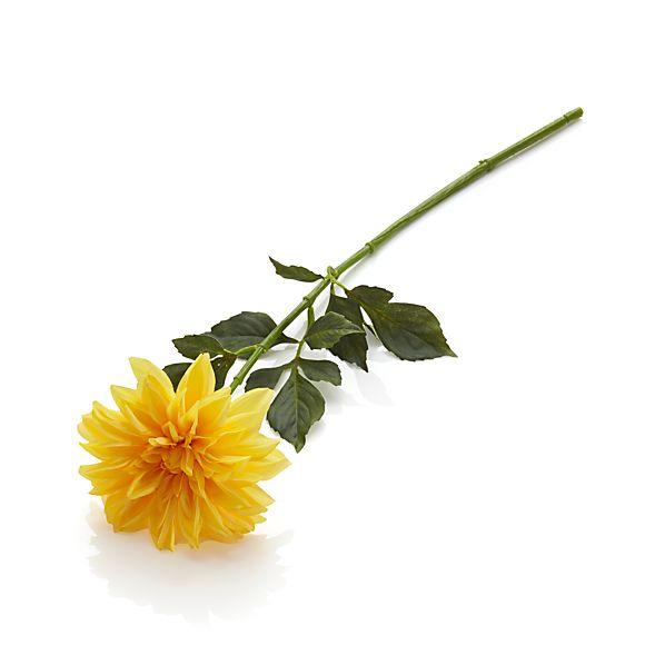 Yellow Dahlia Artificial Flower Stem