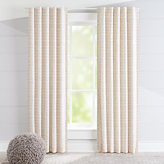 Sketch Pink Blackout Curtains