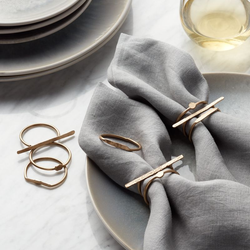 Dainty Napkin Rings Set Of 3 Reviews Crate And Barrel