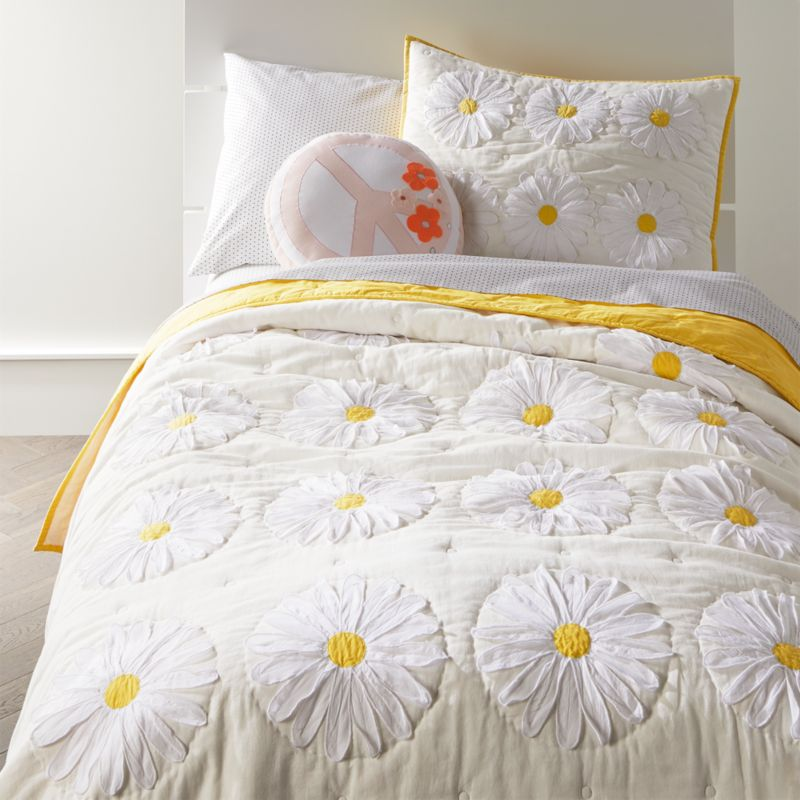 BASSINET SHEET// COTTON WHITE DAISIES ON 3 COLORS