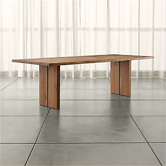 Modern Wood Dining Tables Crate And Barrel - Outdoor wood rectangular dining table