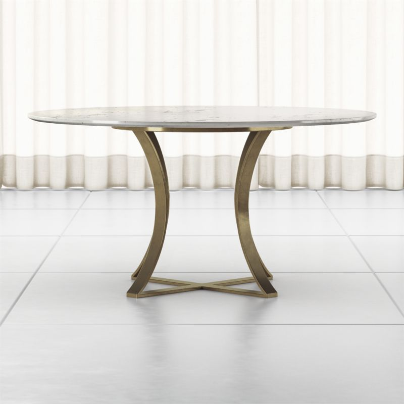Damen 60 White Marble Top Dining Table Reviews Crate And Barrel