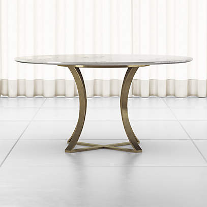 Damen 60 White Marble Top Dining Table Reviews Crate And Barrel Canada