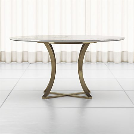 Damen 60 White Marble Top Dining Table