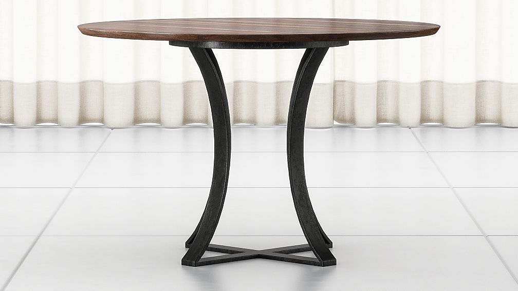"""Damen 48"""" Brown Wood Top Dining Table - Image 1 of 7"""