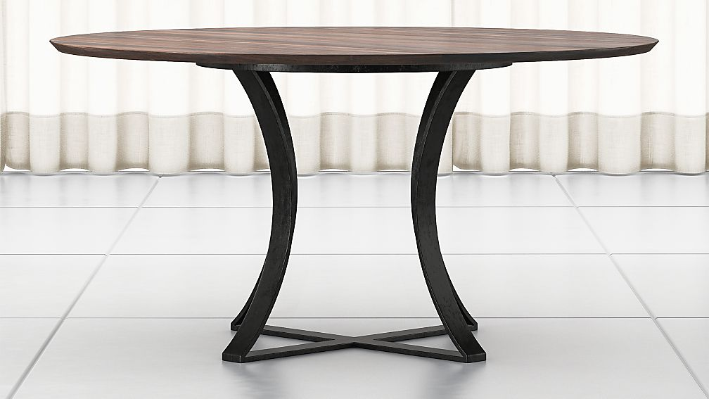 "Damen 60"" Brown Wood Top Dining Table - Image 1 of 7"