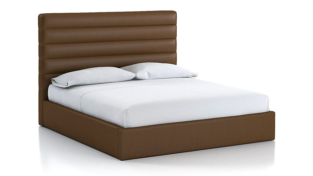 Danielle King Channel Bed Saddle Faux Leather - Image 1 of 2