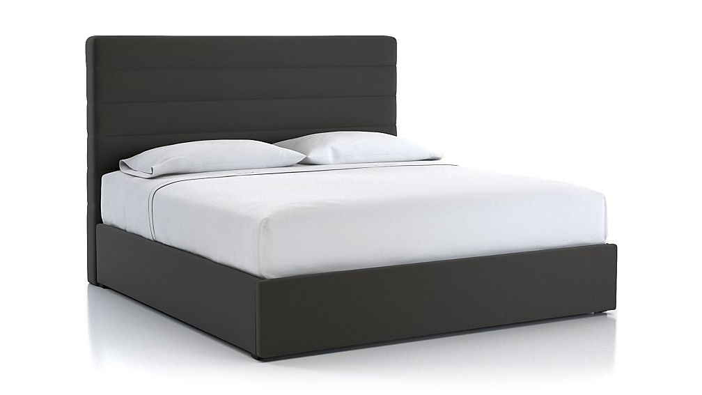 Danielle King Channel Headboard with Gas-Lift Storage Base Carbon - Image 1 of 4