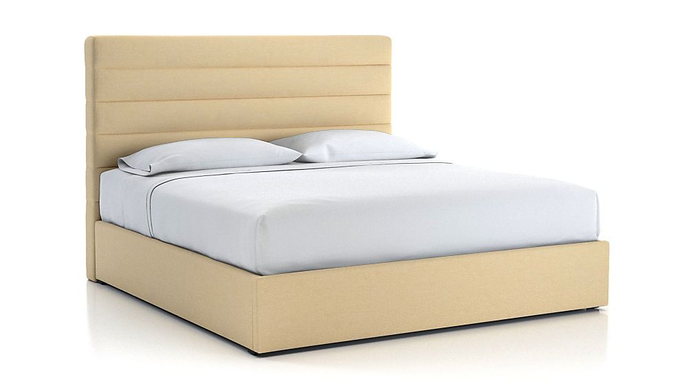 Danielle King Channel Headboard with Gas-Lift Storage Base Chalk - Image 1 of 5