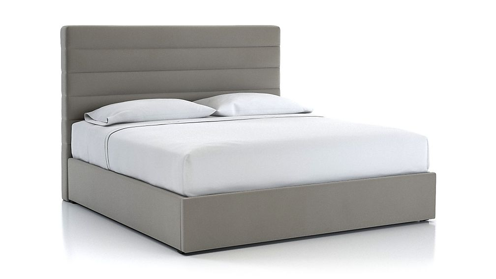 Danielle King Channel Headboard with Gas-Lift Storage Base Dove - Image 1 of 5