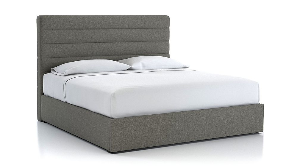 Danielle King Channel Headboard with Gas-Lift Storage Base Grey - Image 1 of 5