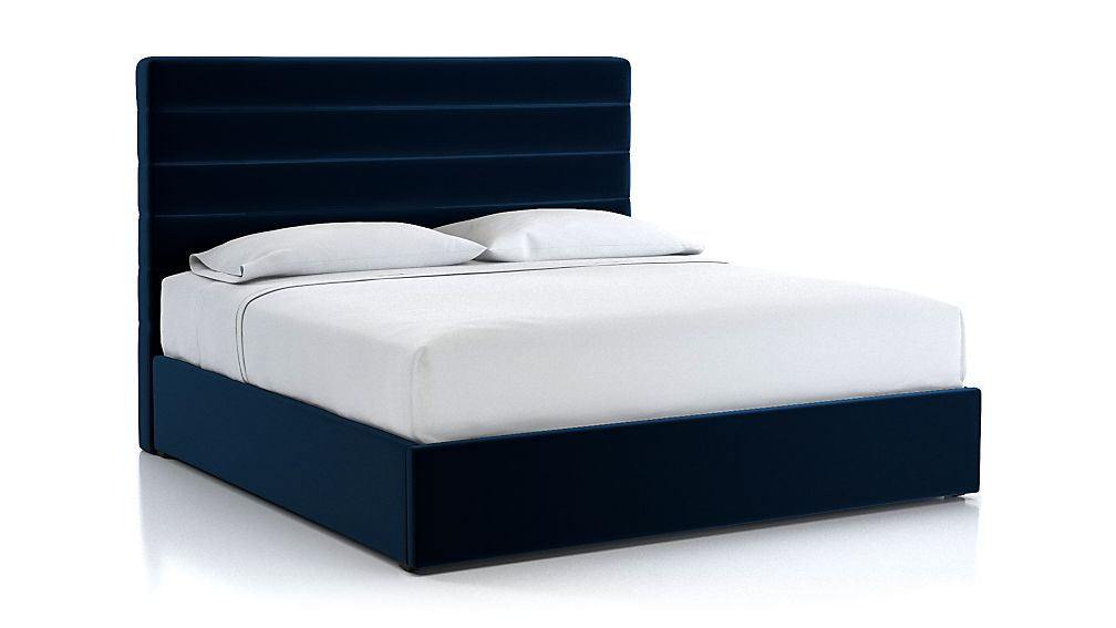 Danielle King Channel Headboard with Gas-Lift Storage Base Midnight - Image 1 of 5